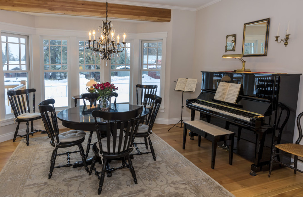 North Country Builders. dining room & music room