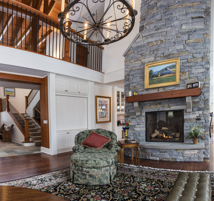 North County Builders - Whitefish Interior Living with fireplace